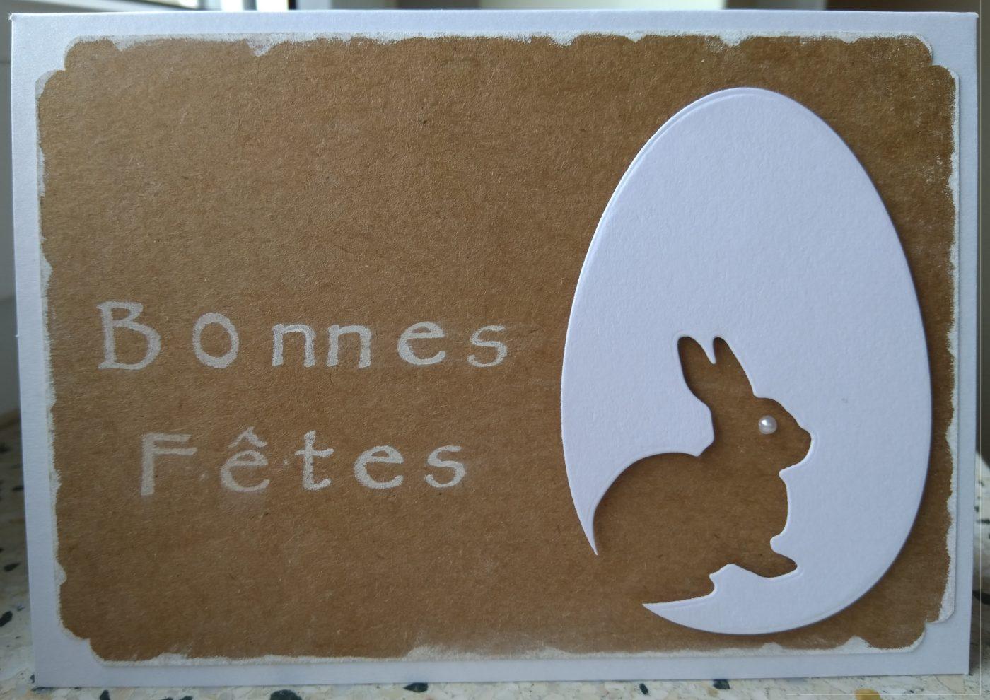 Carte de Pâques 2 tons