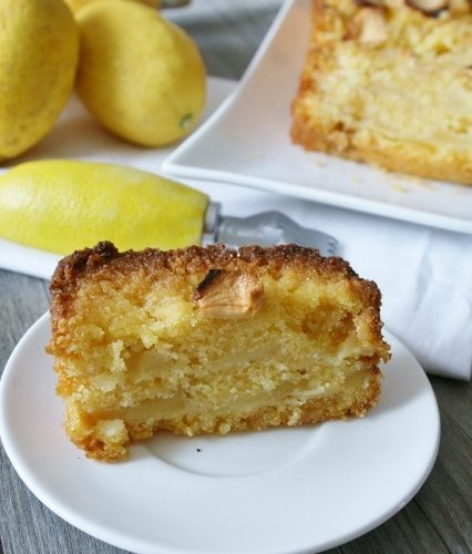 Cake polenta citron-pomme