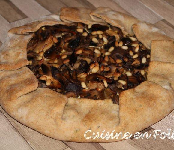 Tarte rustique aux champignons et à la ricotta