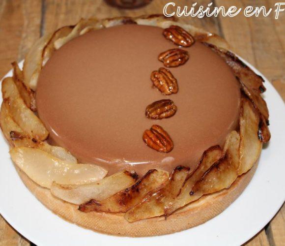 Tarte poire chocolat caramel pécan