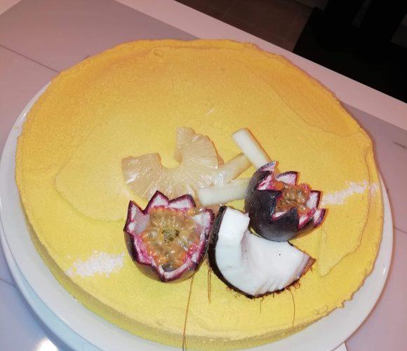 Entremets ananas et mousse coco