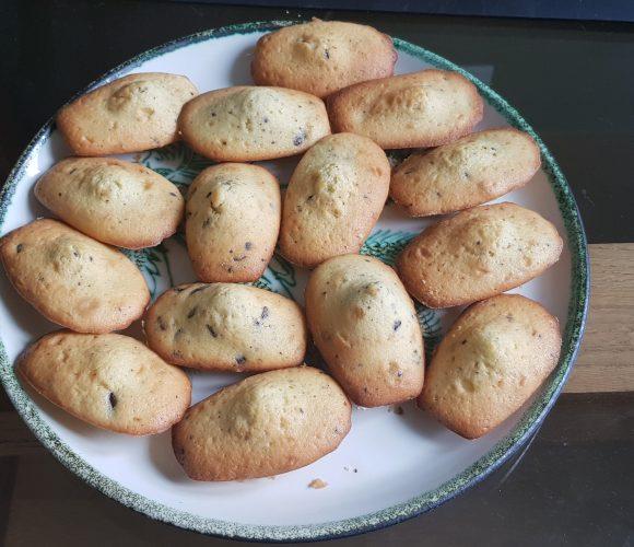 Recette de madeleine aux éclats de chocolats