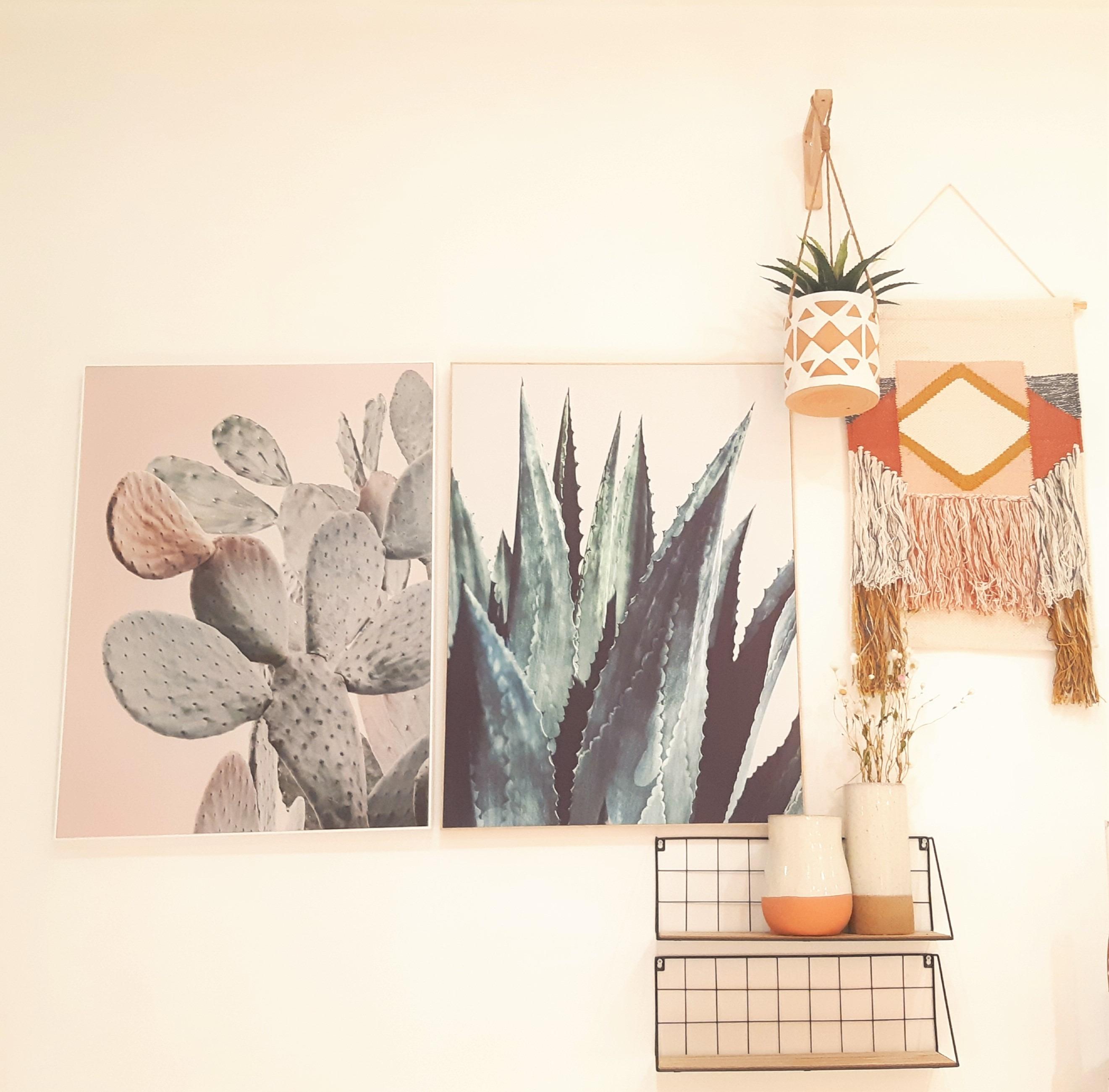 J'ai testé pour vous la toile imprimée cactus
