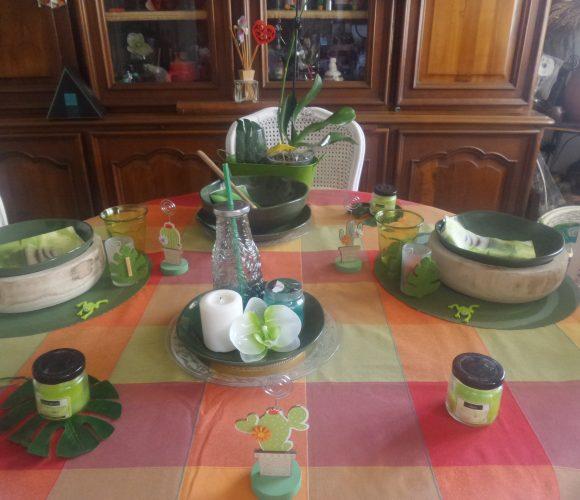 J'ai testé pour vous table thème verdure vaisselle zodio