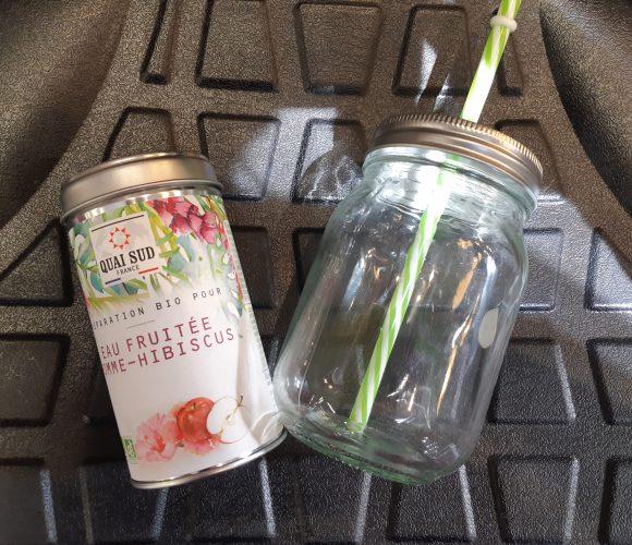 J'ai testé pour vous l'eau fruitée Pomme Hibiscus
