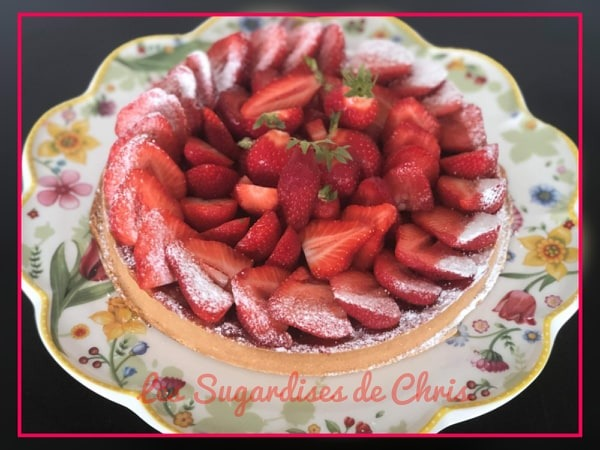 Tarte rhubarbe - fraises