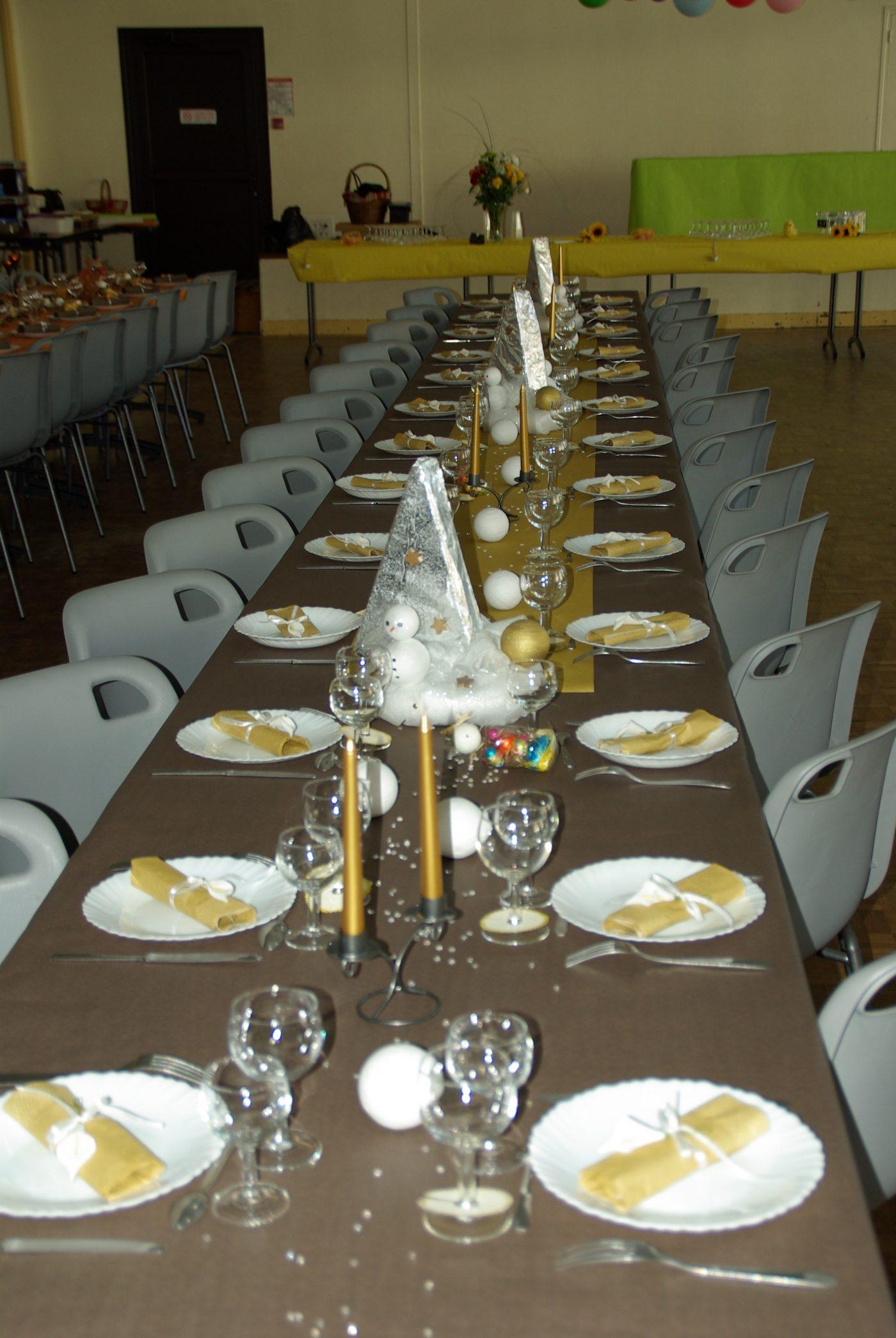 Table thème hiver
