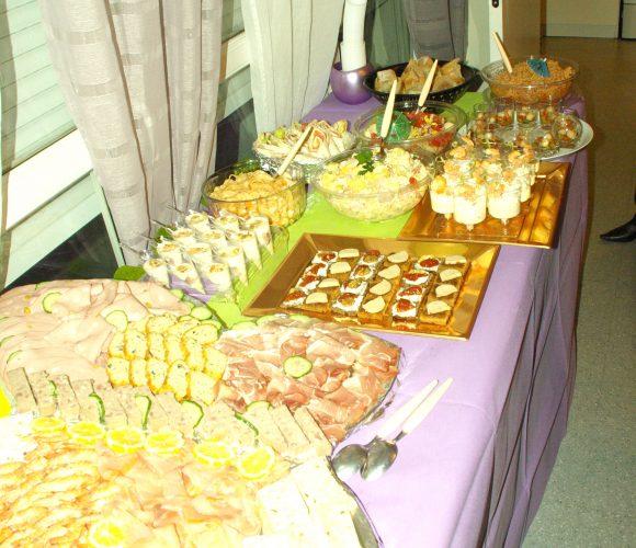 Buffet froid pour anniversaire (fait maison)