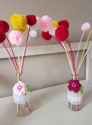 Bouquet de fleurs pompons