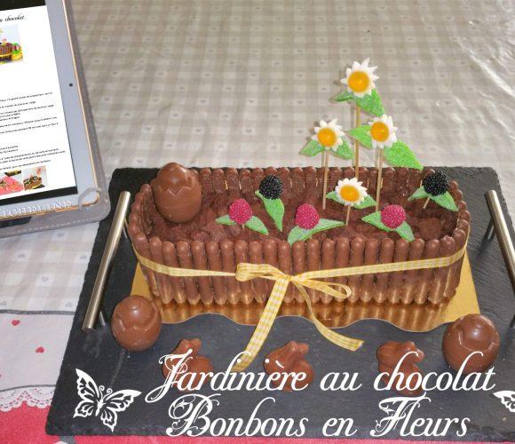 Jardinière de Pâques au chocolat