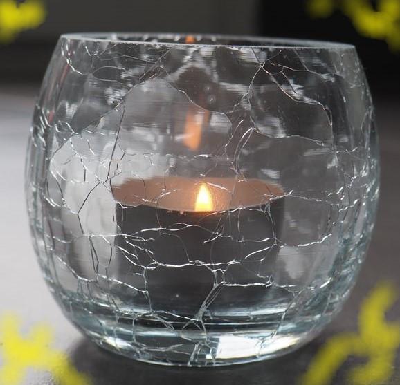 J'ai testé pour vous  Photophore rond en verre craquelé