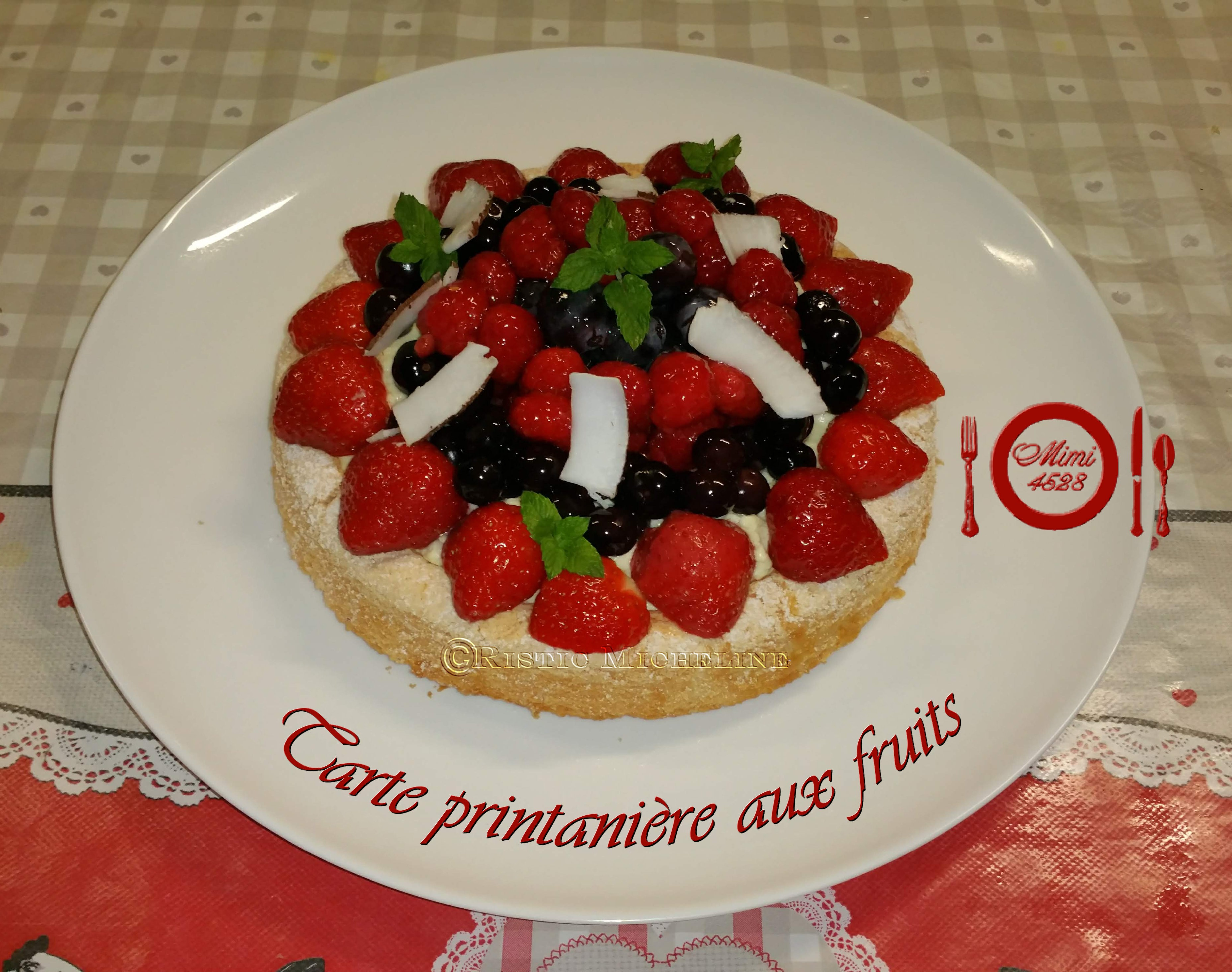 Tarte printanière aux fruits frais