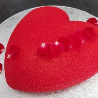 Coeur aux 3 chocolats - génoise sans gluten