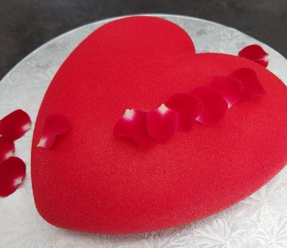 Coeur aux 3 chocolats – génoise sans gluten