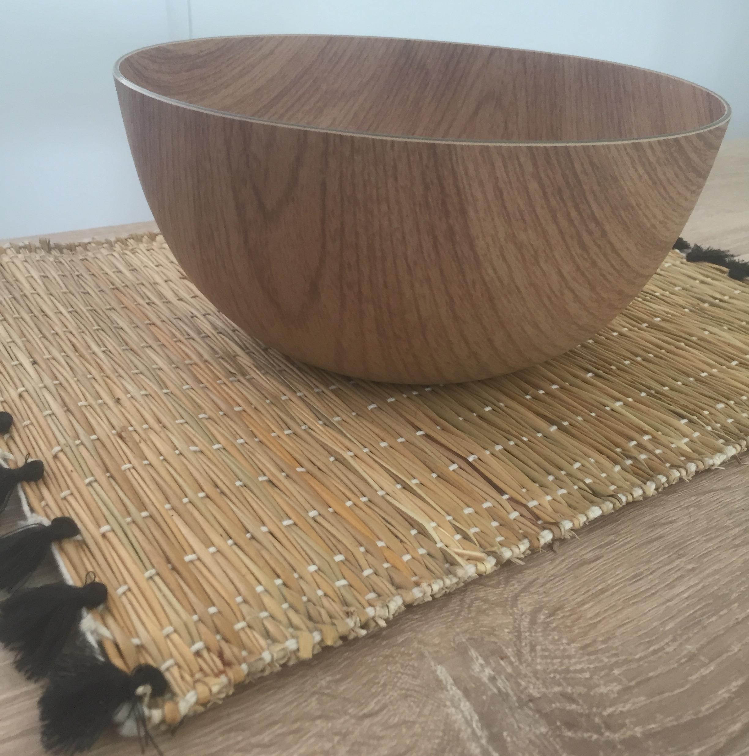 Saladier rond effet bois 24x11cm