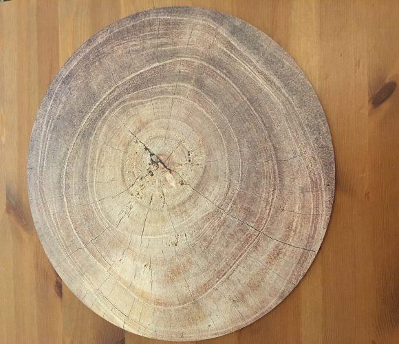 Dessous de table effet bois
