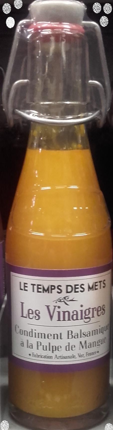 LE TEMPS DES METS  à la pulpe de mangue