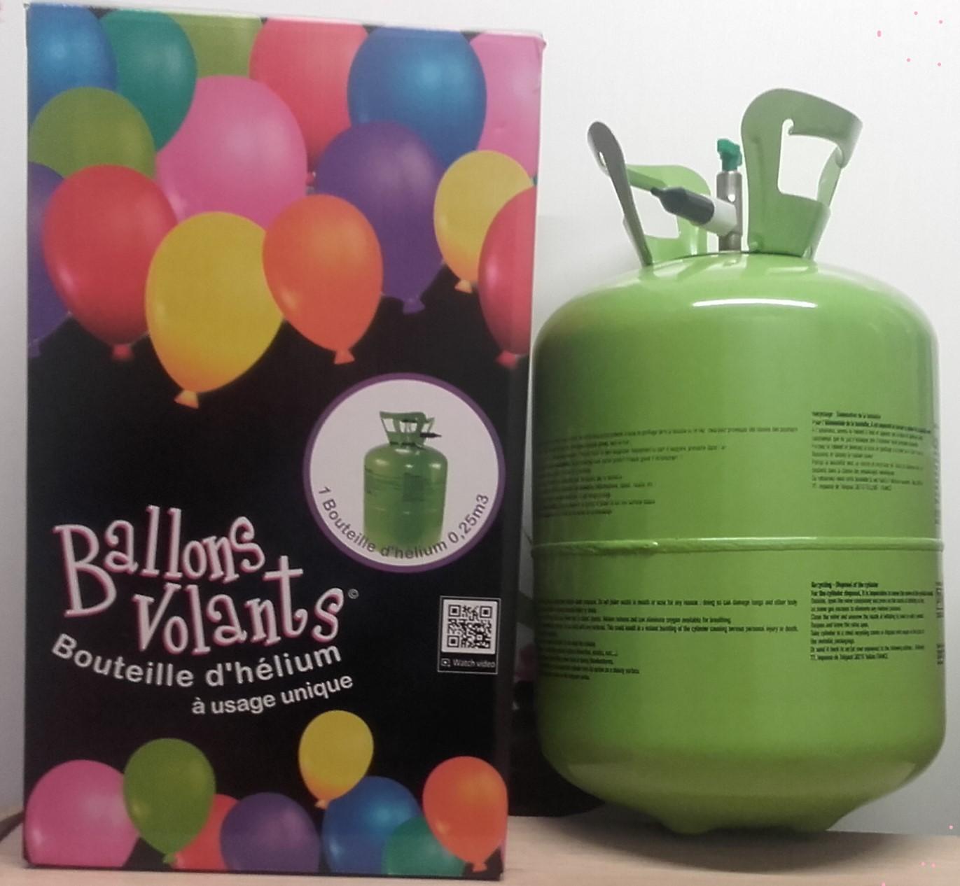 J'ai testé pour vous pOUR UNE FETE REUSSIE  !!!!  Bouteille d'hélium 0,25m3