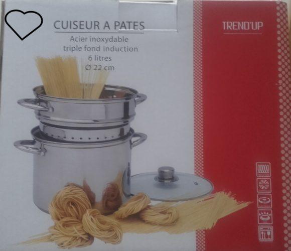 J'ai testé pour vous indispensable !!! cuit pâtes et tous légumes  2en1