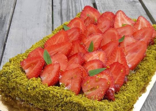 Tarte fraises pistache