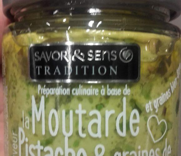 J'ai testé pour vous moutarde pistache et graines de courge toastées