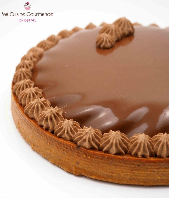 Tarte Double Chocolat et Caramel