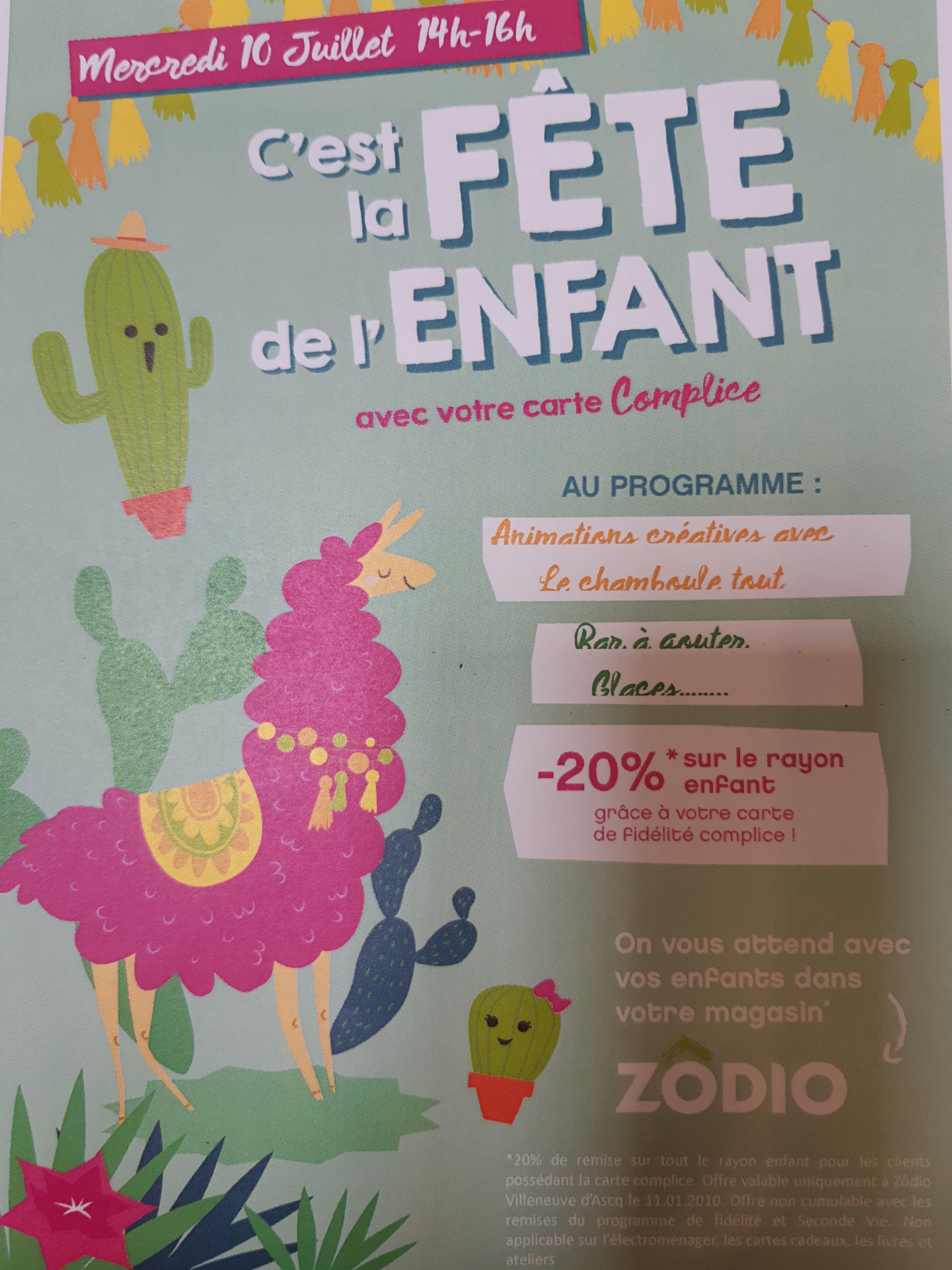 La fête de l'enfant le Mercredi 10 Juillet de 14h à 16h!!!!!!