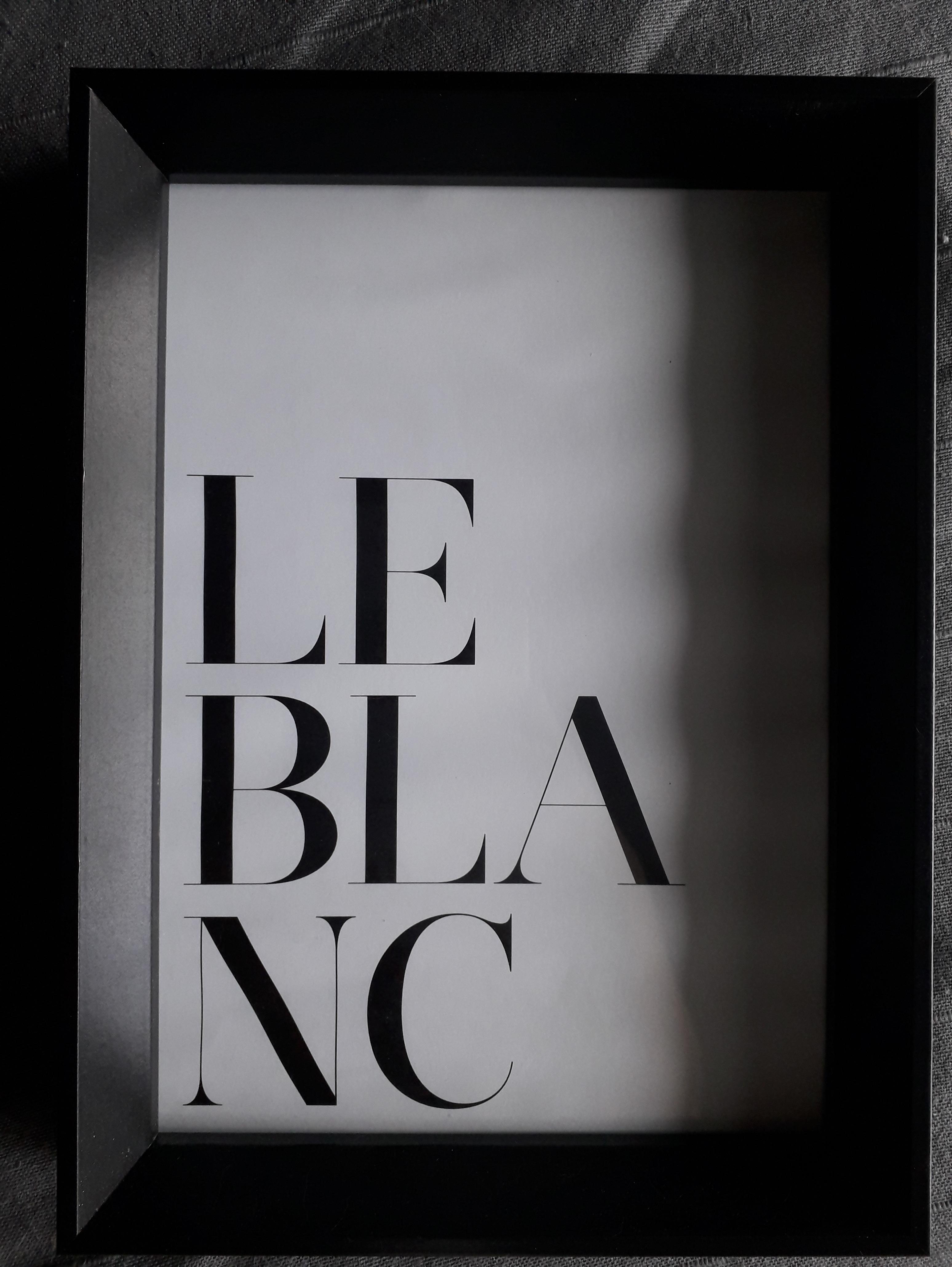 Cadre photo 21x29.7 pente noir avec passe-partout