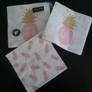 Serviette ananas party
