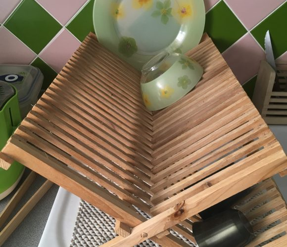 J'ai testé pour vous egouttoir à vaisselle en bambou (Ref : 10070937)