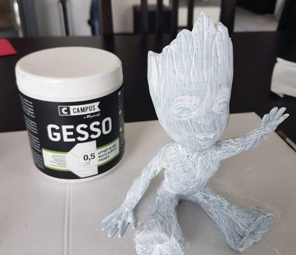 J'ai testé pour vous apprêt acrylique blanc en pot 500mL