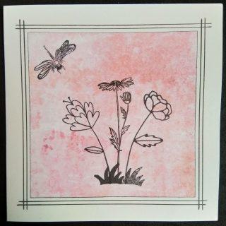 carte de condoléance rose
