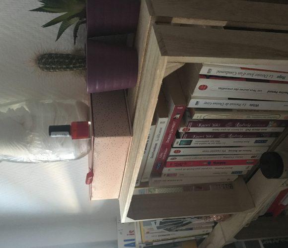 Ma biblithèque faite avec des caisses