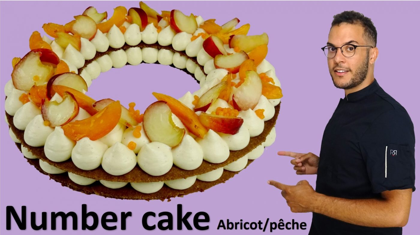 NUMBER CAKE abricot/pêche