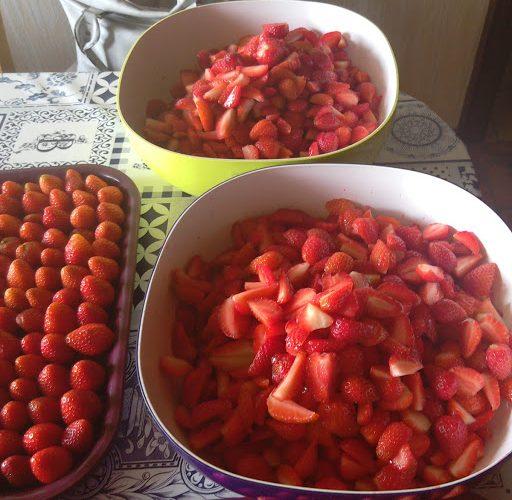 La confiture préférée des petits et des grands…la confiture de fraises !