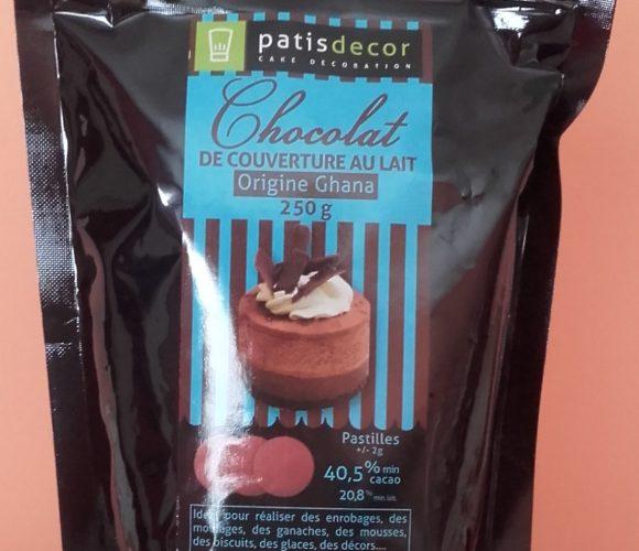 J'ai testé pour vous chocolat de couverture au lait Patisdecor