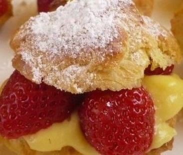 Choux aux fraises