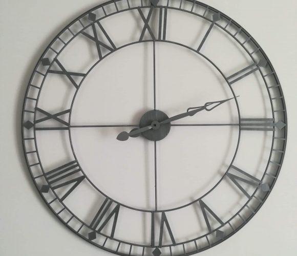 J'ai testé pour vous horloge métal vintage D90cm