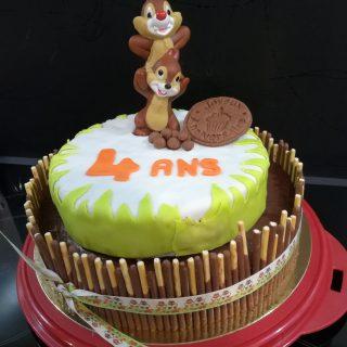 Gâteau anniversaire Thème Ecureuil