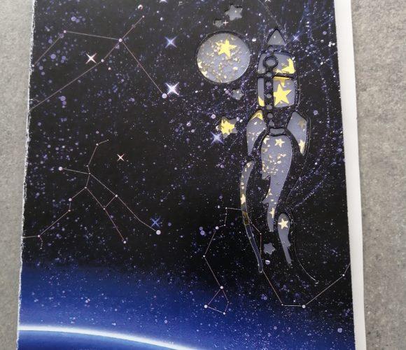 Carte invitation Anniversaire sur le thème «Espace»