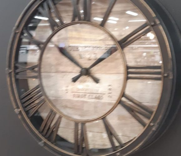 Petite horloge vintage style gare