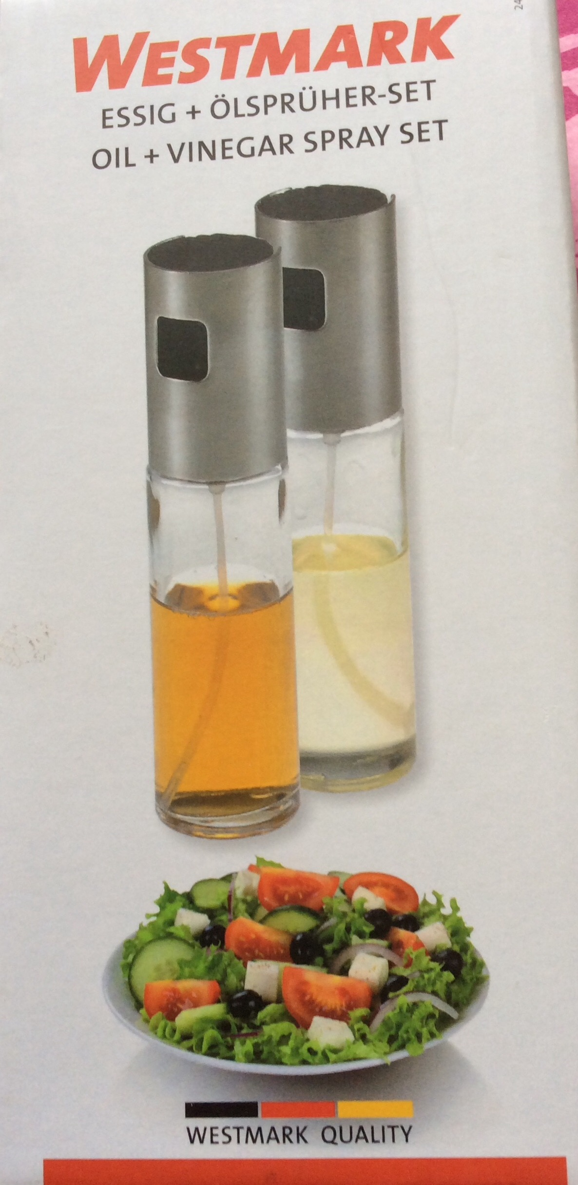 J'ai testé pour vous set 2 sprays huile vinaigre Wesmark