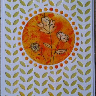 Carte orange et blanche