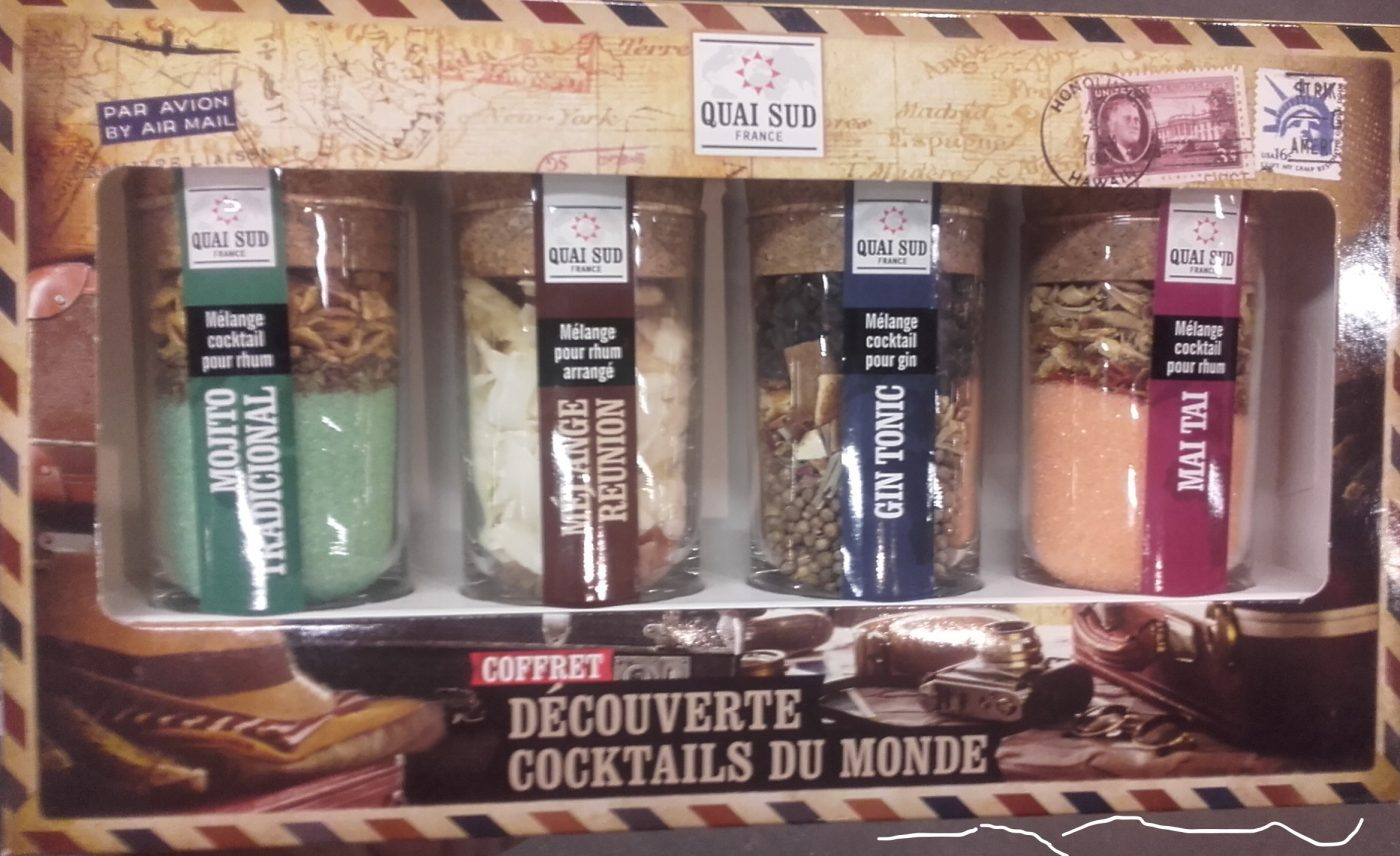 J'ai testé pour vous coffret  4 cocktails du monde à faire... un joli cadeau