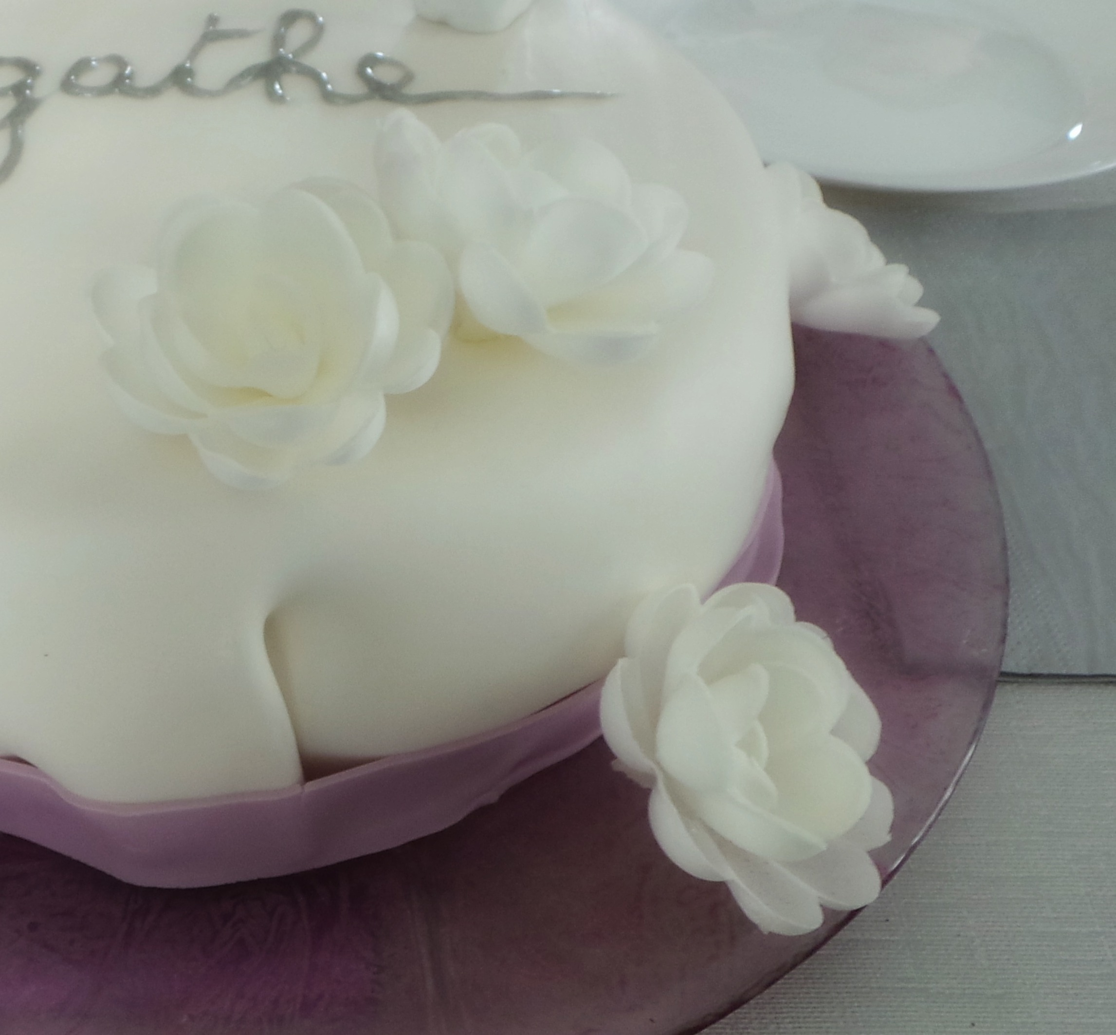 Roses blanches azymes