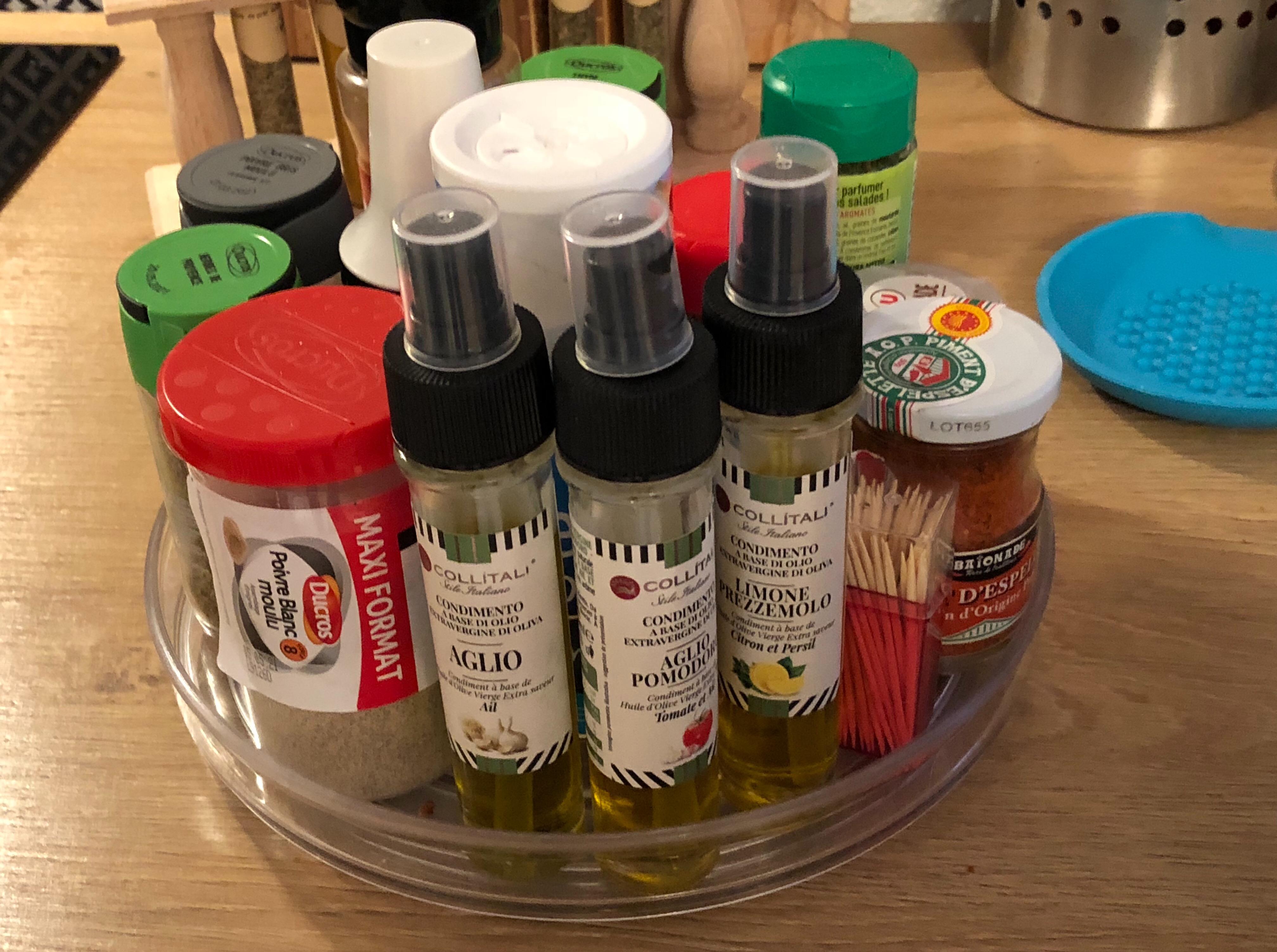 Les huiles en spray