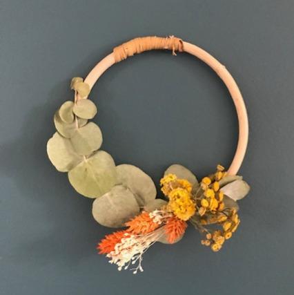 couronne fleurs séchées petit modèle