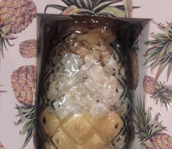 J'ai testé pour vous préparation pour pina colada  dans un joli verre en forme d'ananas
