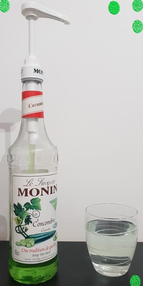 J'ai testé pour vous sirop Monin au concombre + pompe indispensable