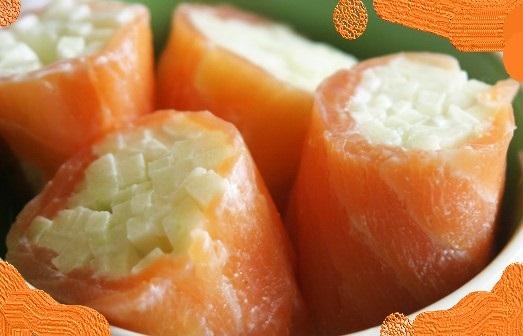 Roulade de Saumon à la pomme